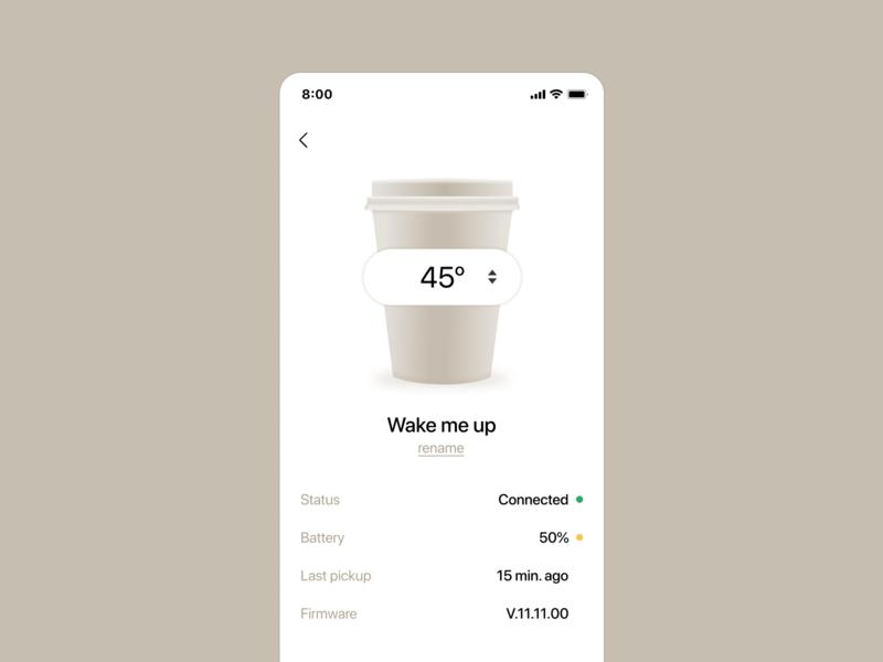 Smart mug settings - Font size practice