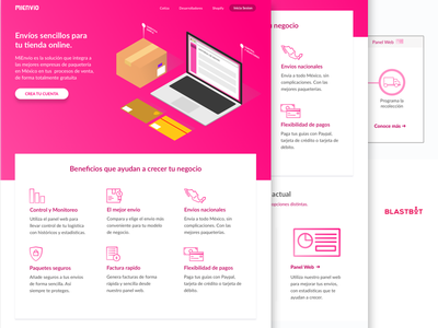 Mienvio Landing Page redesing landing product ui gradient simple isometric illustration landing page
