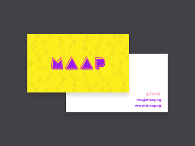 Developer business card & identity vg developer videogames colorful card identity brand business card