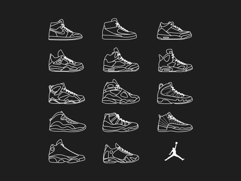 more photos 9225e 321ca Jordan Timeline jordan brand nike nba illustration icons sneakers  basketball jordan
