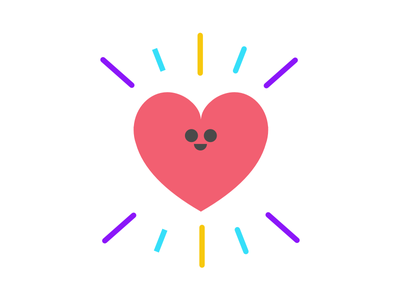 Little blobs icon flat emoji little design minimal tiny cute post blog illustration