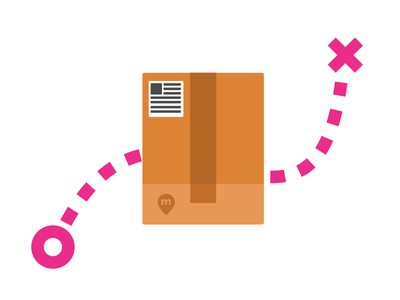Package shipment shipment minimalistic carrier shipping box package illustration