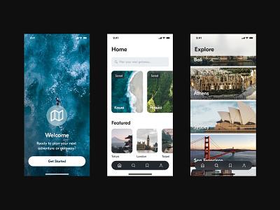 Travel App for iOS mobile visual design ui typography clean product design app travel ios