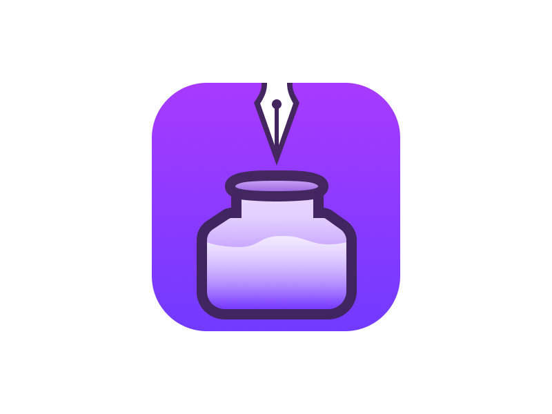 Ink App Icon (Concept) design ios icon app ink