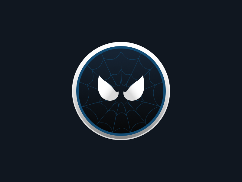spiderman coin black symbiote costume by victor kernes dribbble