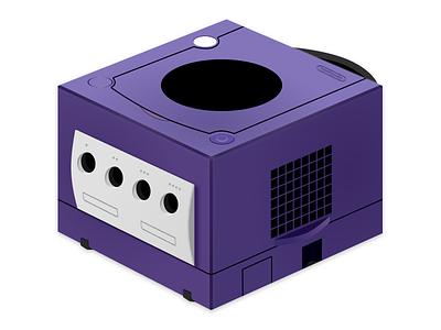 Nintendo Gamecube video games skeuomorphism nostalgia illustration icon nintendo gamecube game figma 5thingsinfigma