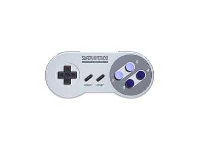 Super Nintendo (Controller) super nintendo 5thingsinfigma figma game super nintendo icon illustration nostalgia skeuomorphism video games