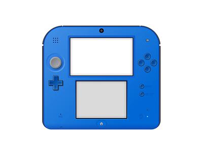 Nintendo 2DS nintendo game 2ds 3d gameboy nostalgia video games icon illustration skeuomorphism figma 5thingsinfigma