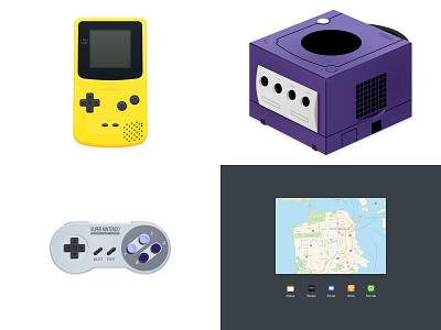 Top 4 for 2018 (Mostly Nintendo 😅) gamecube gameboy nintendo illustration design figma