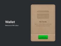 Wallet rebound card leather wallet design figma ios app dailyui skeumorphism