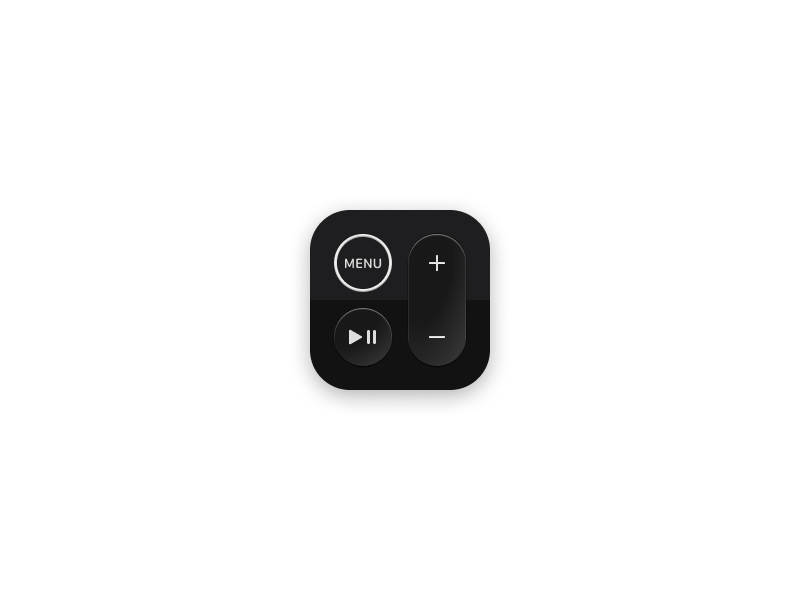 Apple Remote Icon app icon figma icon apple apple tv