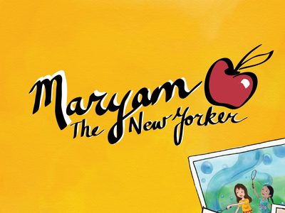 Maryam the New Yorker Meets an Ecuadorian Friend @ the Unisphere illustration logo design