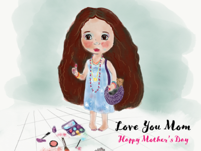 Happy Mother's Day design illustration