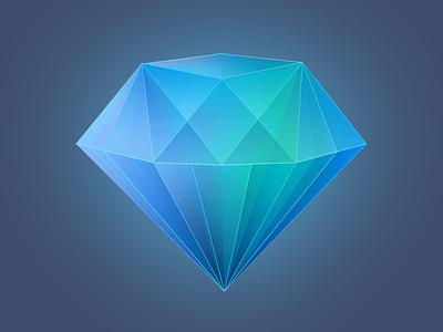 iOS Diamond App Icon icon icons app icondesign diamond os