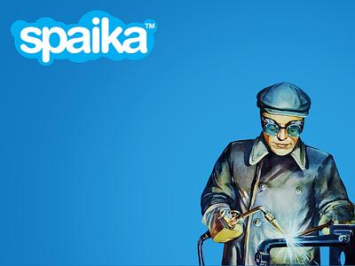 Spaika. Skype. USSR. Logo. ussr redesign logo logotype welding skype