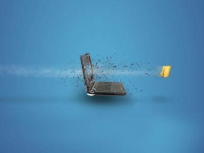 """Грандиозное увеличение скоростей. ОАО """"Кыргызтелеком"""". crashe notebook speed internet folder illustration"""