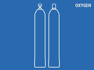 Oxygen ballons ballon gas flat oxygen