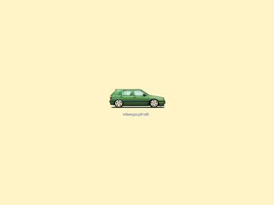 Volkswagen Golf Mk3. Pixel Art Retouch gti retouch 1994 auto pixelart pixel mk3 golf3 golf volkswagen vag vw