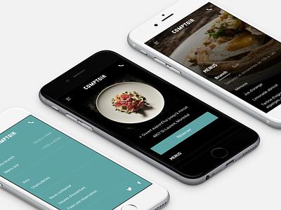 Comptoir – Restaurant website mobile food website restaurant ui