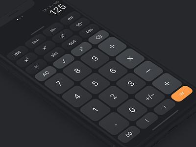 Calculator ux iphone calculator app ios mobile ui dark daily ui dailyui