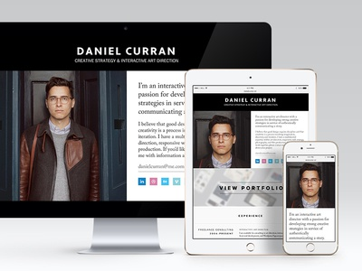 Personal Website responsive website portfolio