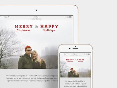 Christmas Card Website holiday website responsive christmas