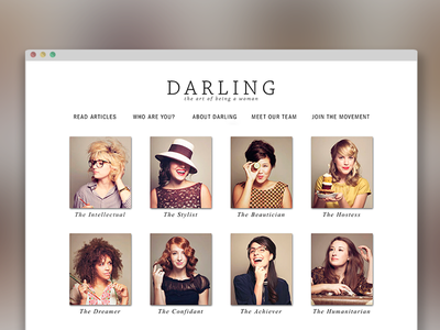 Darling Magazine Web Launch editorial responsive website web design