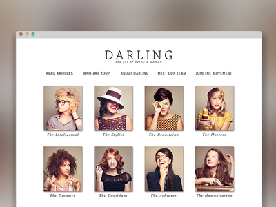 Darling Magazine Web Launch editorial responsive website web design