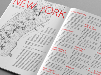 New York City Guide - Article print city guide new york writing magazine