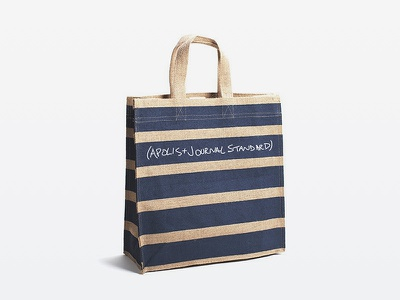 Custom Bag for Journal Standard apolis product development journal standard print jute bag tote
