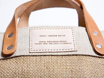 Custom Bag for American Rag bag tote product development print leather jute american rag apolis