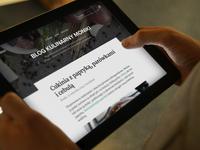 Oslo blog theme, tablet