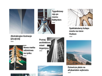 Masonry homepage concept