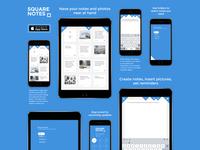 Squarenotes iOS app