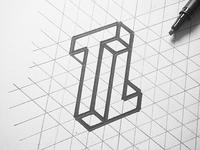 TL logo sketch