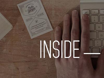 Inside - Interactive Studio web portfolio ux ui header