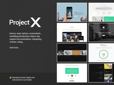 Project—X freelance agency author theme envato project presentation presentation portfolio