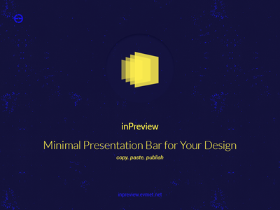 inPreview — Minimal Presentation Bar for Your Design wizard responsive template psd portfolio bar presentation minimal gallery fullscreen