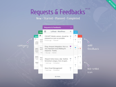 WordPress Request & Feedback Plugin discussion contact wordpress feedback widget support suggestions review requests question help form feedback