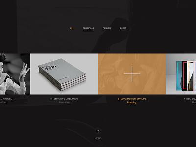 Portfolio List _v1 designer website web ux ui minimal fullscreen listing projects list works projects portfolio