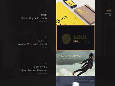 Portfolio List _v2 designer website web ux ui minimal fullscreen listing projects list works projects portfolio