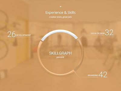 SkillGraph website  works web ux ui minimal designer experience skillgraph skill