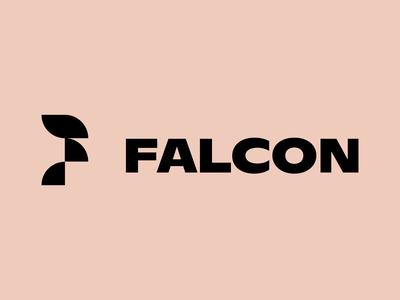 Falcon Logo modern shapes falcon bird geometric identity brand branding design icon logo