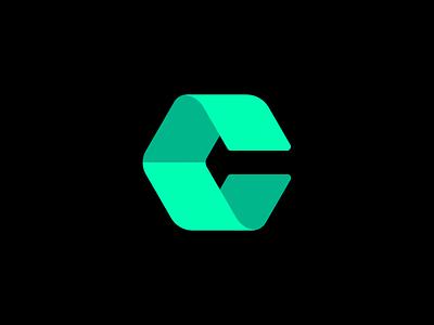 C Icon modern geometric vector identity brand branding design icon logo