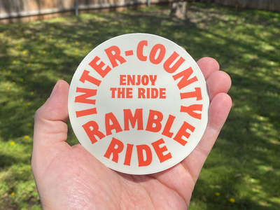 Inter-County Ramble Ride Stickers stickers type oklahoma identity brand branding logo typography