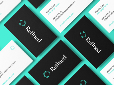 Refined Business Cards business cards stationery identity brand branding design logo typography