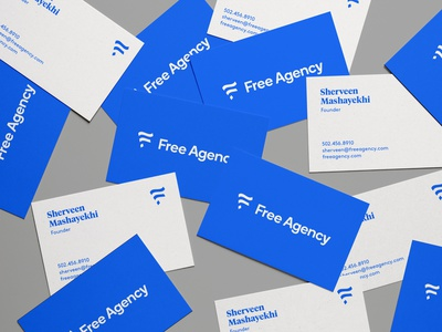 Free Agency Business Cards business cards stationery type identity brand branding design icon logo typography