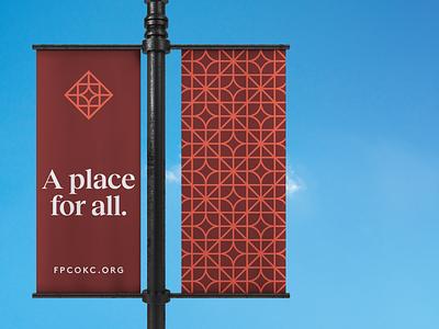 FPCOKC Brand Identity print collateral stationery christian icon church type oklahoma identity brand branding design logo