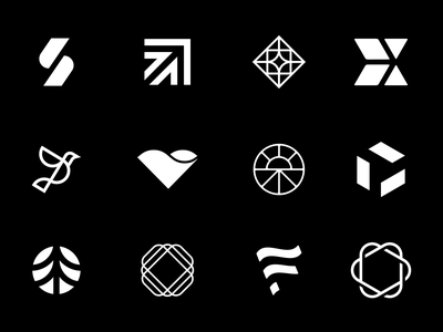 LogoLounge 12 Submissions grid marks brand identity branding icons logolounge logos
