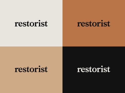 Restorist Brand Identity green environment type identity brand branding design logo typography
